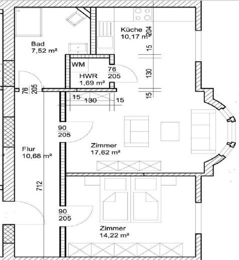 2-Raum Wohnung im Zentrum von Bitterfeld - Boulevardlage -