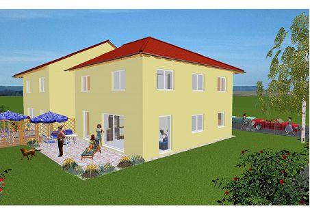 Schöne Neubau DHH Stadtvilla in Borken