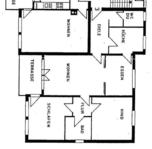 Schöne 3 Raum Wohnung mit Balkon und Stellplatz in idyllisch ländlicher Lage