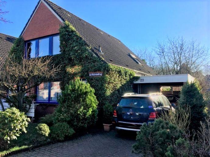 Doppelhaushälfte mit Einzelhaus-Charakter in herrlich ruhiger Lage von Harksheide