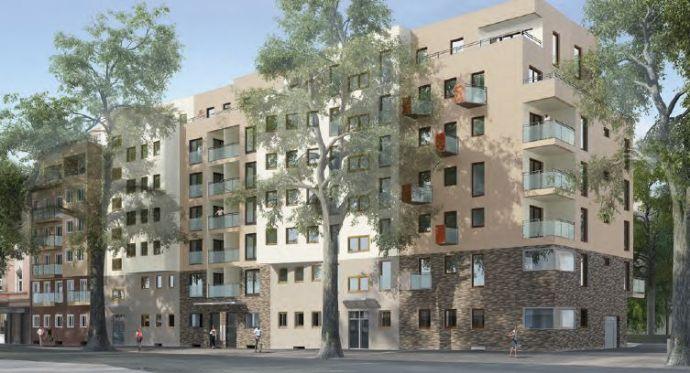 Erstbezug (new flat) in exklusive, moderne 1,5-Zimmer- Wohnung mit Balkon und Einbauküche