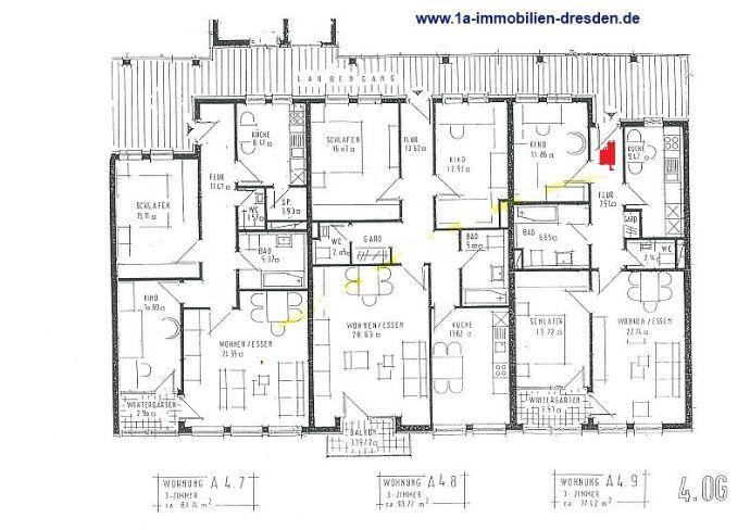 3 - Raumwohnung mit Wintergarten in