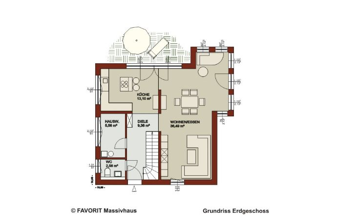 Favorit Massivhaus favorit massivhaus noblesse 120 projektiert