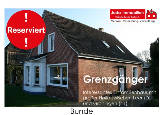 Grenzgänger! Interessantes Einfamilienhaus mit großer Halle zwischen Leer (D) und Groningen (NL)!