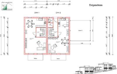 Erdgeschoss DHH 1 und DHH 2