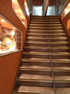 Treppe in der Mühle zur Wohnung im 1.OG