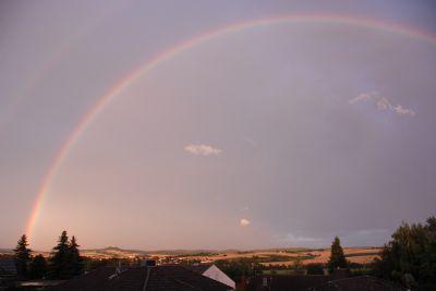 Regenbogen von Sonnenterrasse