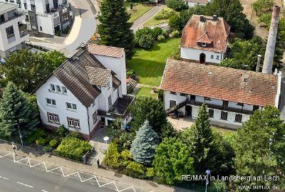 Areal mit Villa, Gartenhaus, loftartigem Heizhaus und Lager nahe Frankfurt / Main