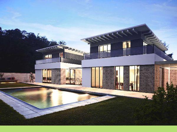 Moderne Luxus Stadtvilla - Beste Lage - mit Balkon, Terrassen, Garten und Tiefgarage