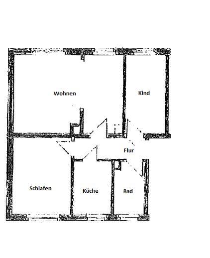 Gemütliche 3-Zimmer Wohnung im Grünen
