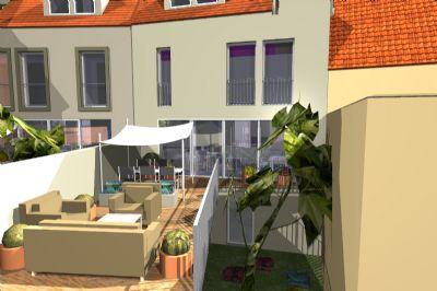 Terrasse Gartenansicht
