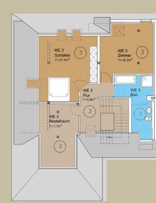 Wohnung 3 - 5 Zimmer DG