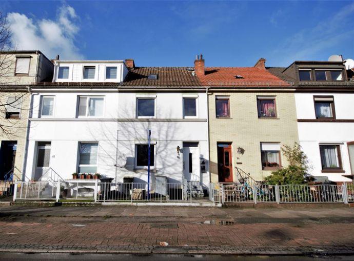 Gröpelingen! Reihenmittelhaus mit 2 Wohneinheiten in zentraler Wohnlage!