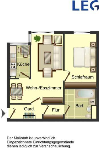 2 Zimmerwohnung in Lierenfeld