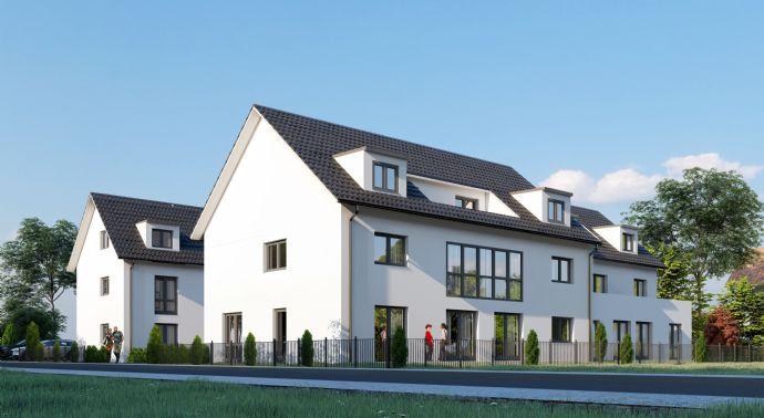 NEUBAU -:- Stadthaus-Wohnung mit 5 Zimmern - Garten und Dachterrasse in Zentrumslage von Hirschaid -:- Rohbau bereits erstellt