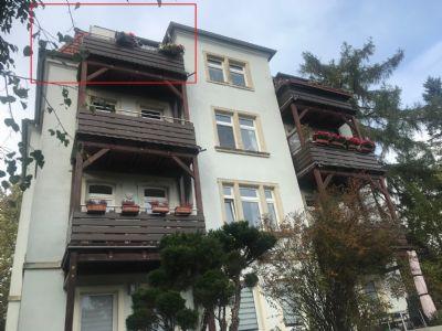Dachgeschoss-Eigentumswohnung in sanierter Stadtvilla, spektakulärer Ausblick, Dresden-Bühlau
