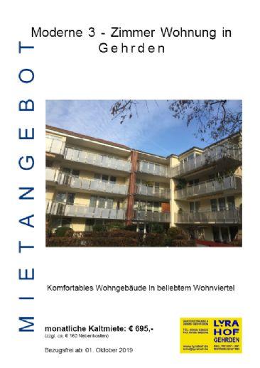 Moderne 3 - Zimmer Wohnung in Gehrden