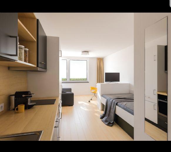 22,27 m², 1-Zimmer-Wohnung Pauschalmiete