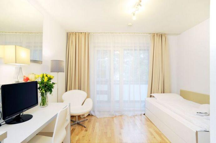 nur 259 € + NK pro WOCHE -  wunderschöne Appartements im Brentano-Park/Nähe Messe  - Mindestanmietzeit ab 1 Woche - flexible Kündigungsfristen