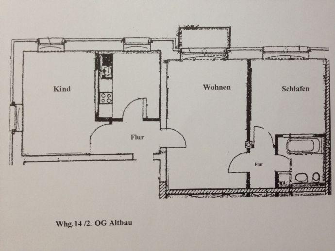 3-Zi.-Wohnung in der 2. Etage, 72,5 m²