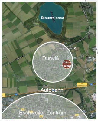 Grundstück Dürwiß Neubaugebiet; Einfamilienhaus als Reihenhaus mit Bauplänen