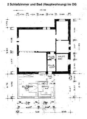 Grundriss OG Hauptwohnung