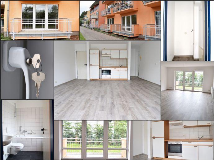 Erstbezug nach Sanierung! Attraktive 1-Zimmer Wohnung in Brandis, wahlweise mit Einbauküche und Balkon
