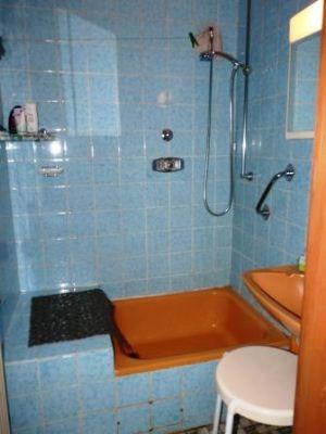 Die Dusche im Erdgeschoss