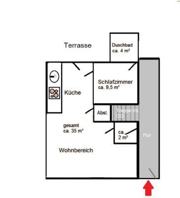 Wohnung EG Skizze