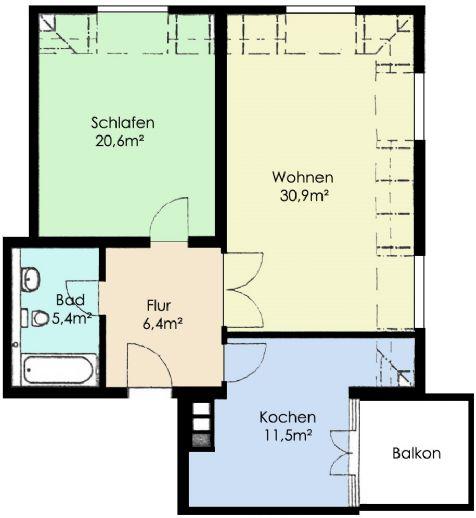 helle 3 Raumwohnung Dachgeschoss sucht Nachmieter