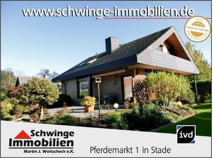 SCHWINGE IMMOBILIEN Stade: Wohnhaus am Ende einer Sackgasse - 1,7 km bis zur Stader Innenstadt.