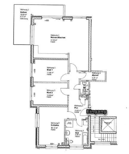 Exklusive 4 Zimmer Wohnung mit Blick über Jena am Hausberg zu vermieten !