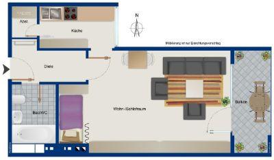 Provisionsfrei! Apartment in Mörsenbroich