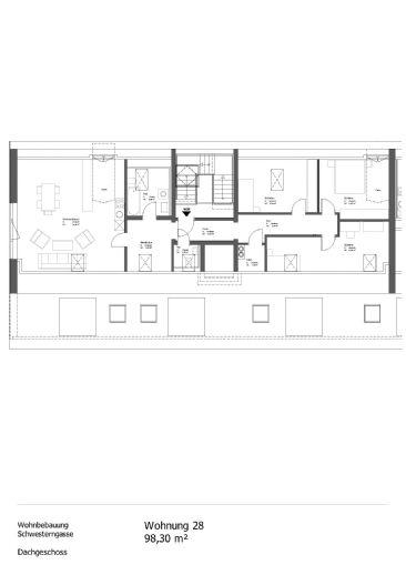 4 Zimmer Dachgeschosswohnung mit Wohnberechtigungsschein