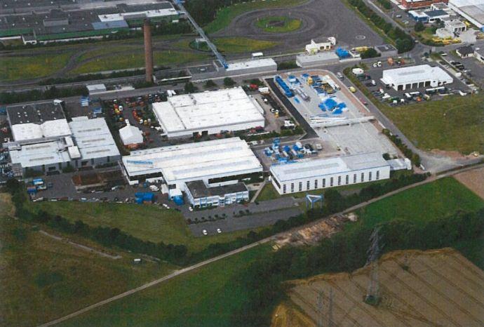 Großzügige Produktion und Hallenflächen