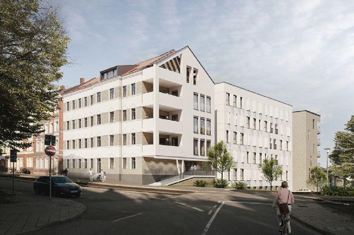 Sanierungs-AfA Wohnen mit ca. 50m² Gartenanteil! -downtown 55- in der Brühlervorstadt! individuell, modern, Bad en suite.....
