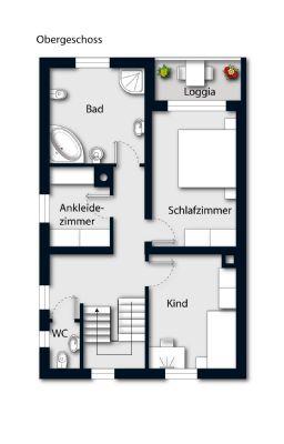 Obergeschoss möbliert