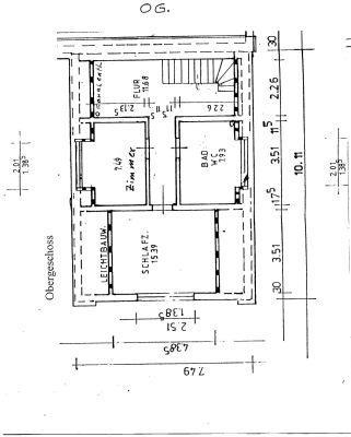 Grundrissplan - Dachgeschoss