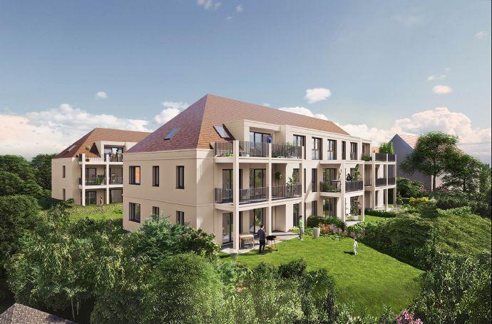 Lichtdurchflutetes 3-Zimmer-DG-Juwel mit tollem Schnitt, großzügigem Balkon und Tageslichtbad - NEUBAU Schwabach-Auen - 65% bereits verkauft