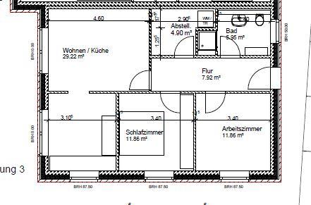 Erstbezug - 3 Zimmer Neubau-Wohnung mit eigenem Eingang in ruhiger Lage von Lohne