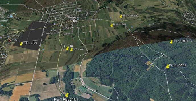 Provisionsfrei ! 8 Grünflächen & Wald 10.957 m² in Oberjosbach zum Paketpreis, kein Bauland !