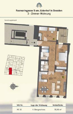 Grundriss Wohnung 10 (2.OG bis 4.OG)