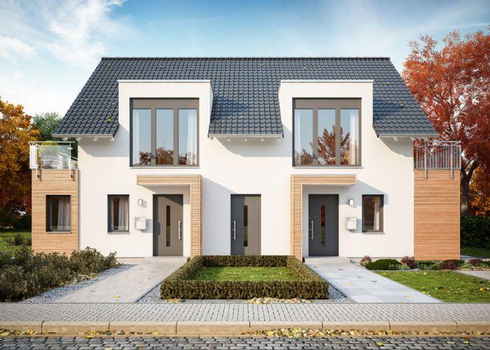 Energieeffizientes Doppelhaus bauen - alle unter einem Dach GRUNDSTÜCKSBESCIHTIGUNG AM 10.03. 14-15:00 UHR
