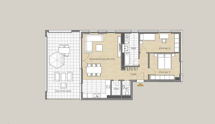 Penthouse mit großer Terrasse