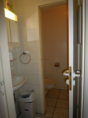 Eines der beiden WC