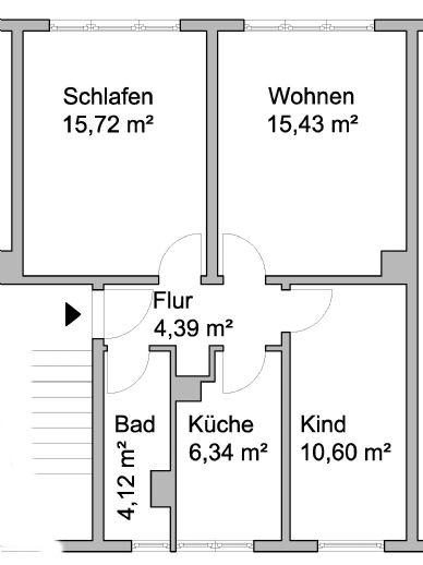 schöne, helle 3 Zimmerwohnung in Harzgerode