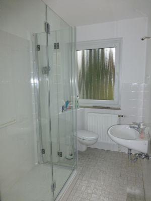 weißes Duschbad