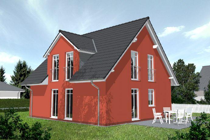 Sonniges Baugrundstück mit sehr schönem Einfamilienhaus, wird massiv gebaut mit Betonbodenplatte