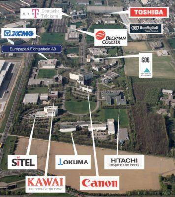Luftbild mit Umgebung und Firmen