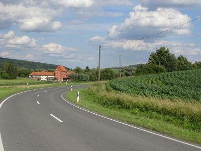 Historische Mühle in 1km Entfernung